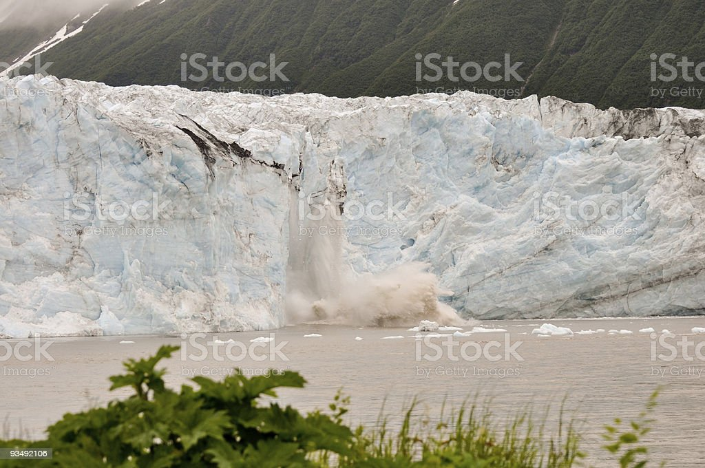 Child's Glacier calving royalty-free stock photo