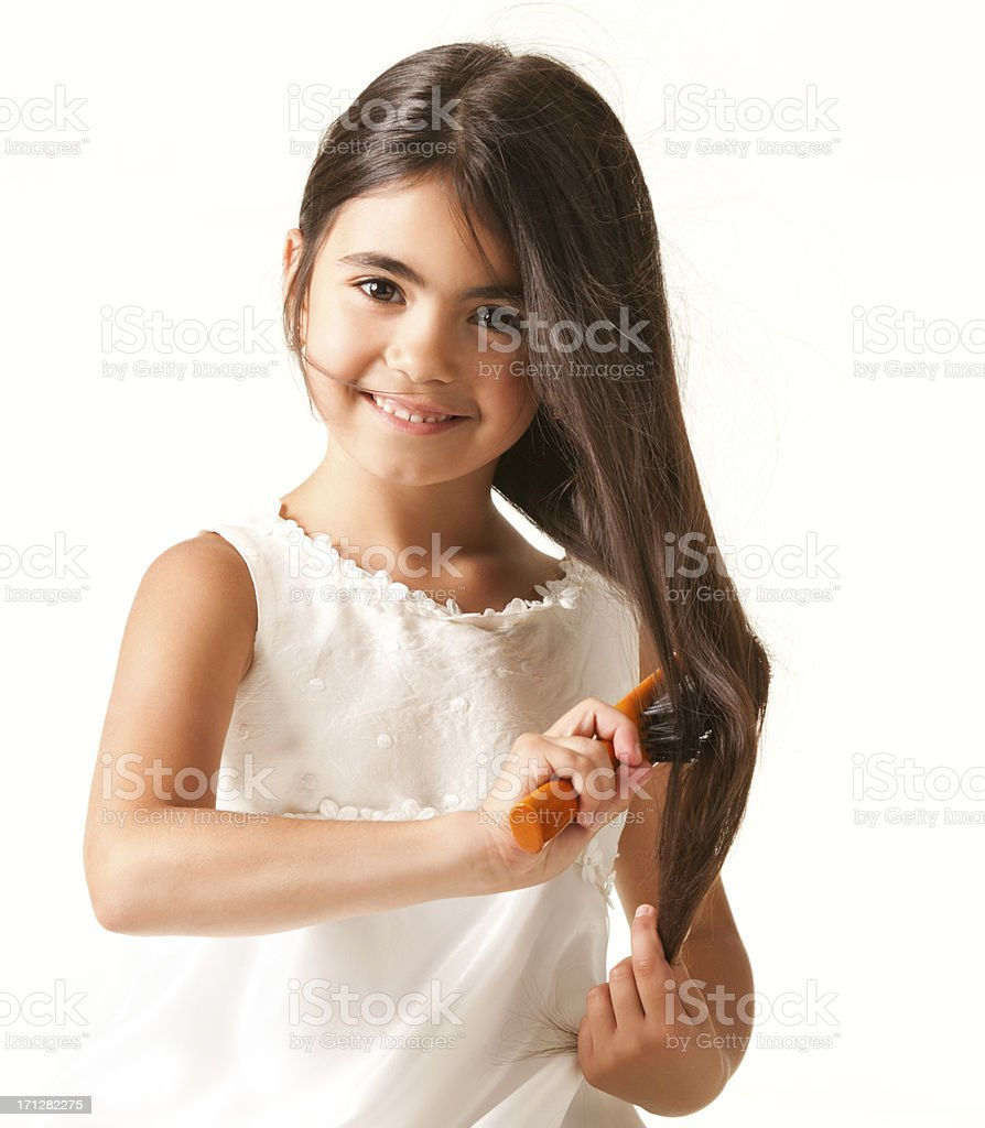 Child's hair stock photo