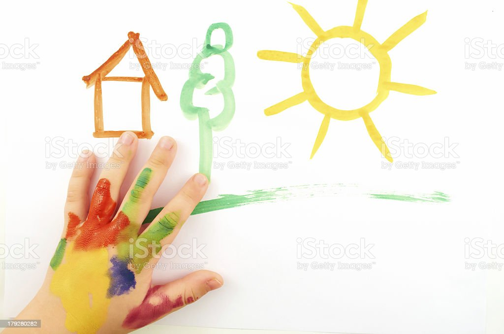 Child's hand royalty-free stock photo
