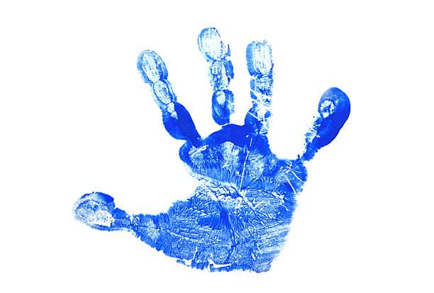 Child's Hand Print stock photo
