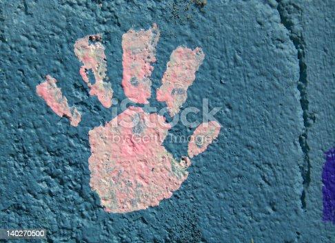 istock Child's Handprint 140270500