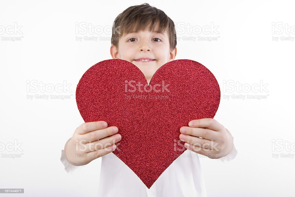 Child's Heart - Charity royalty-free stock photo