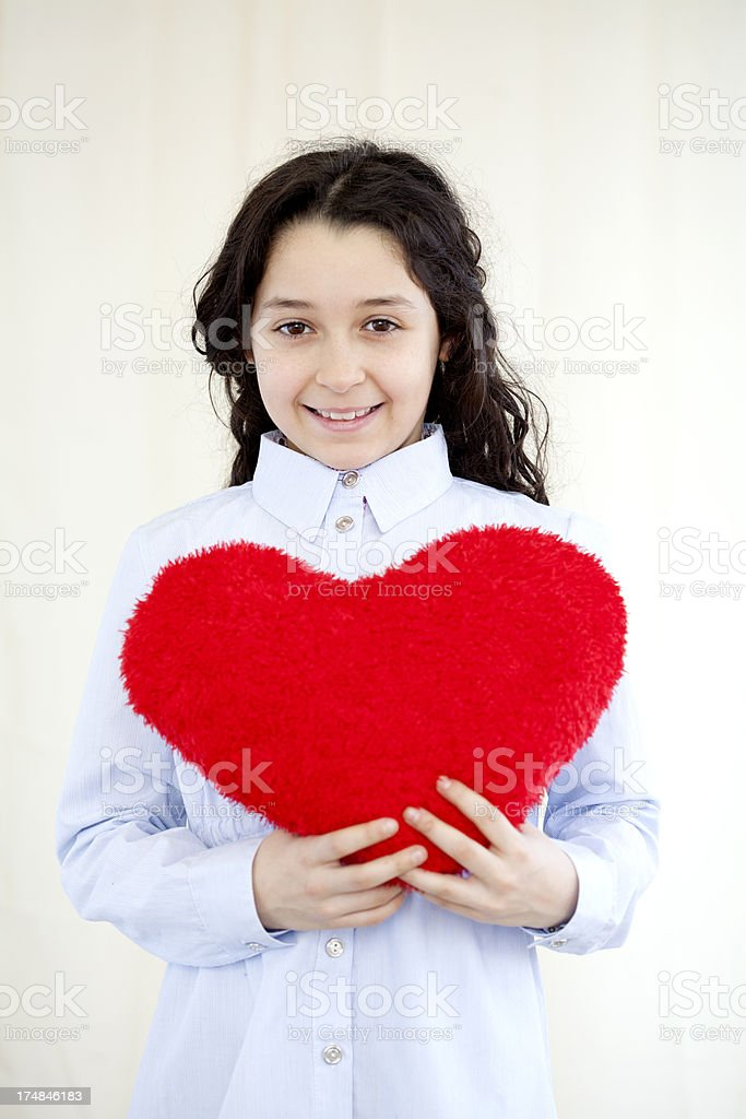 child's heart royalty-free stock photo