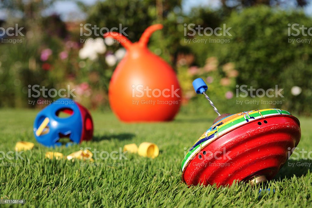 Child's Metal Spinning Top stock photo