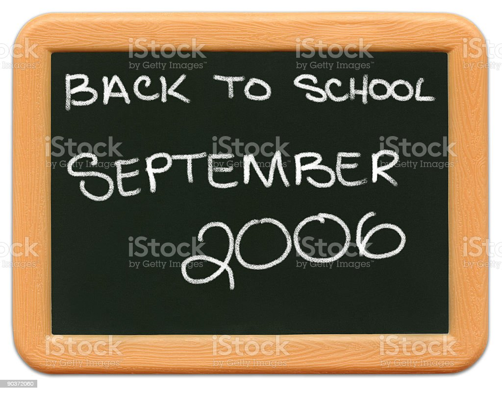 Child's Mini Chalkboard - Back to School 2006. royalty-free stock photo