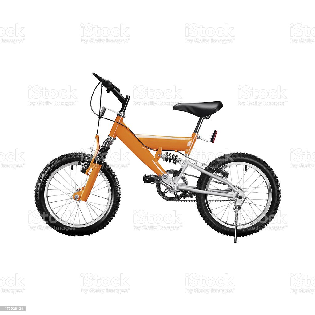 Childs mountain bike isolated on a white background royalty-free stock photo