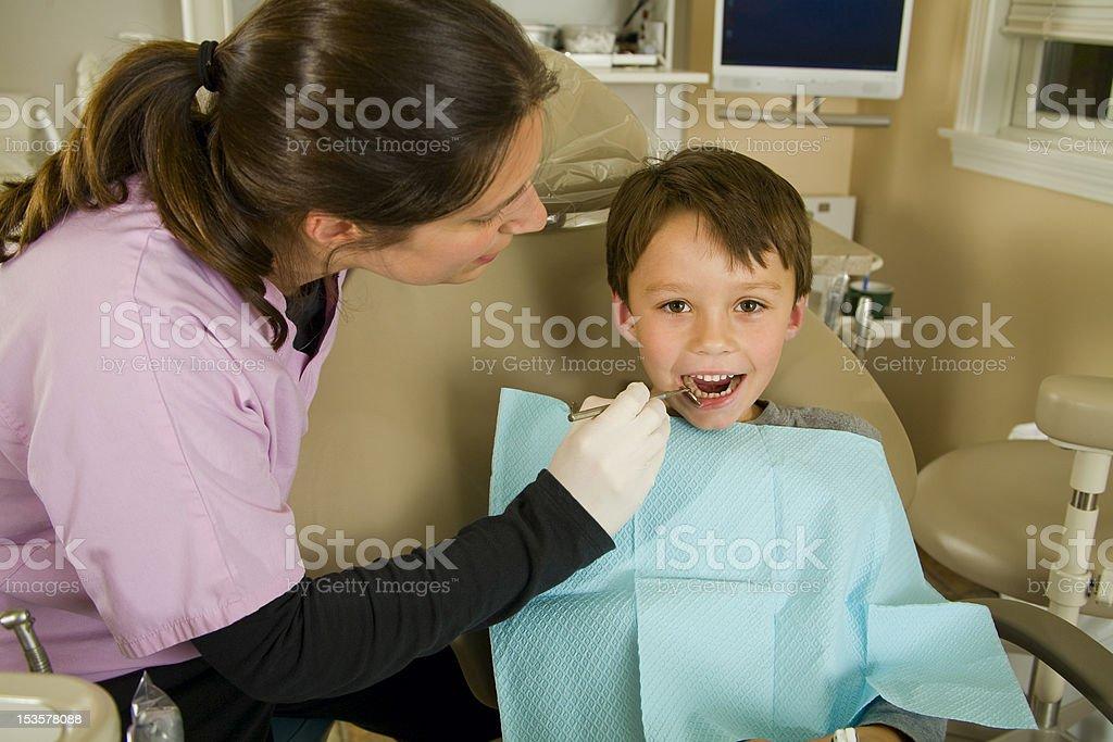 Child's Oral Dental Exam stock photo