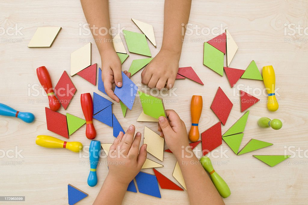 Child's playing royalty-free stock photo