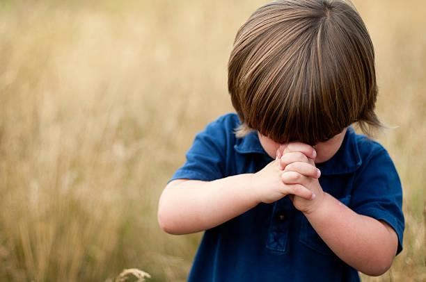 Child's Prayer stock photo