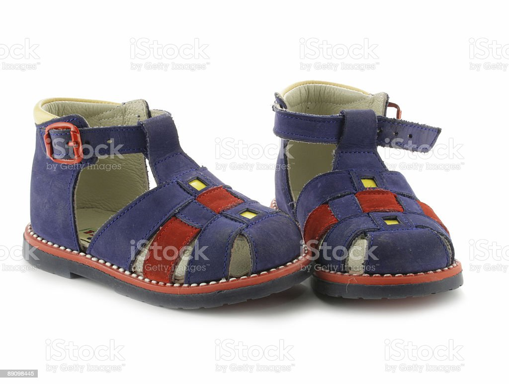 Child's shoes stock photo