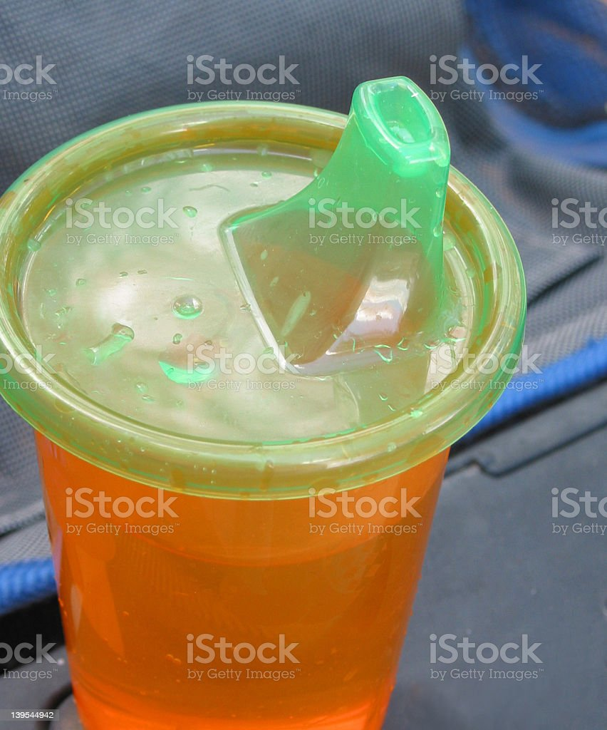 Child's Sippy Cup stock photo