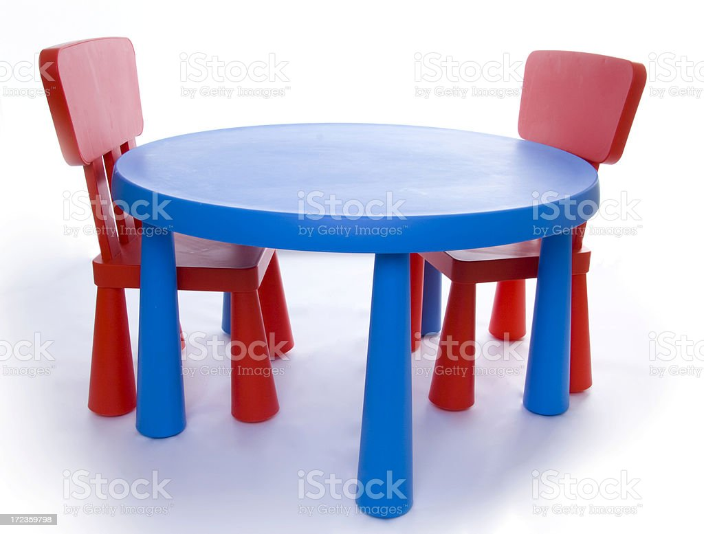 childs table and chairs royalty-free stock photo