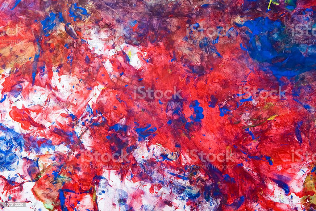Child's Tempera Paint on Paper royalty-free stock photo