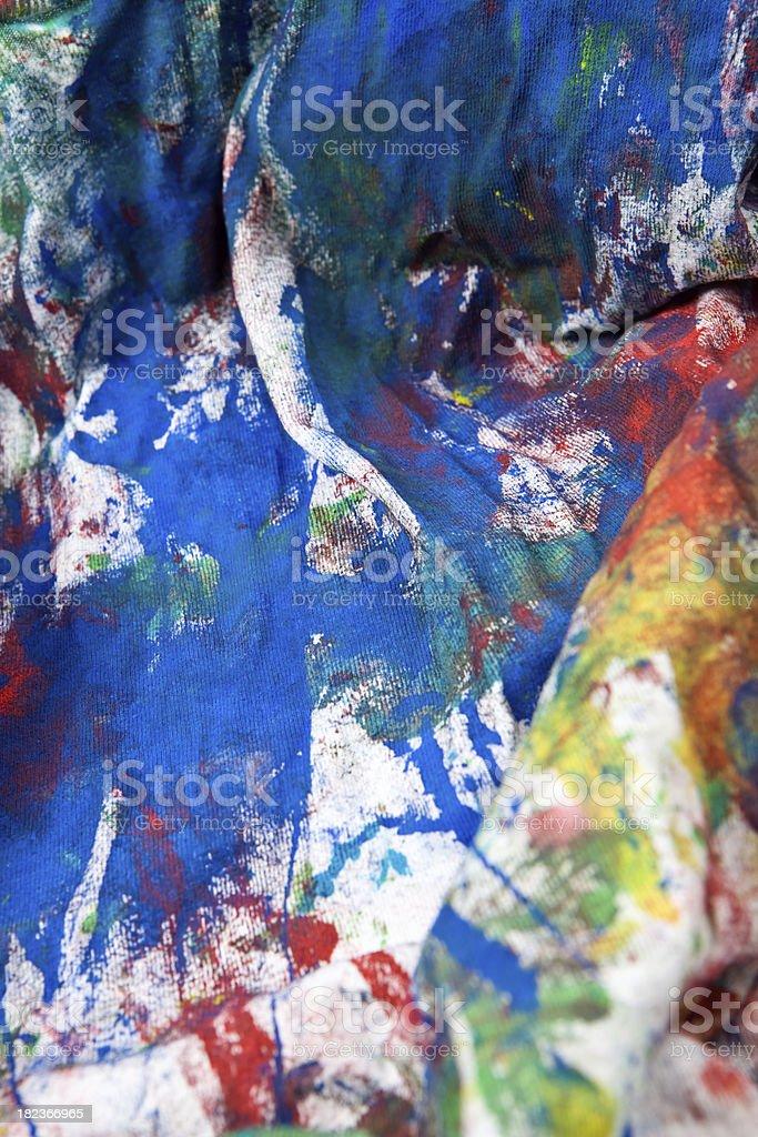 Fotografia De Nino Pintura Al Temple De Tejido De Camiseta Blancas Y