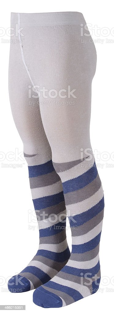 Child's tights on a mannequin stock photo