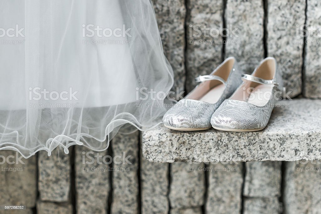 Child's wedding dress royalty-free stock photo