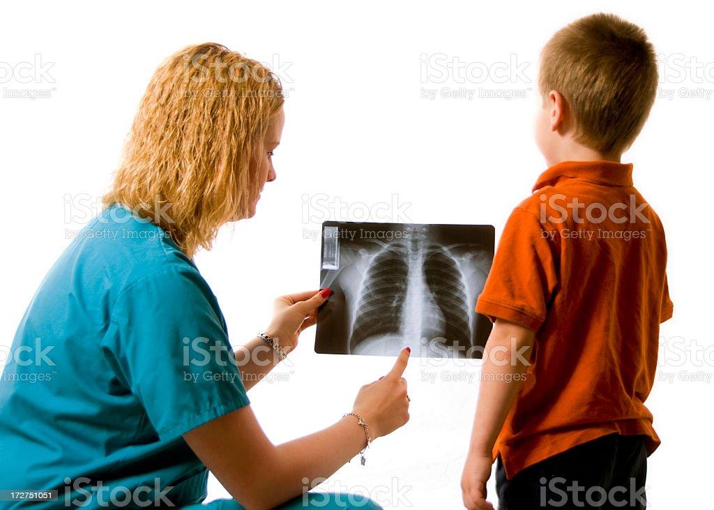 Child's x-ray royalty-free stock photo