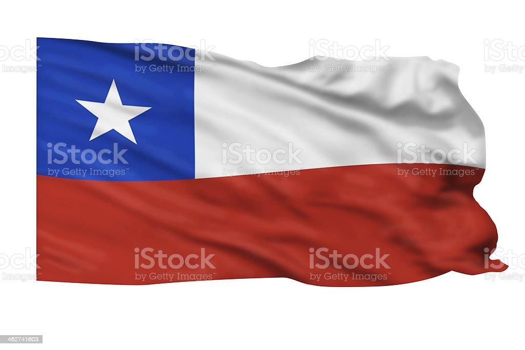 Chile Flag. stock photo