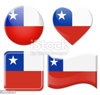 istock Chile Flags & Icon Set 453011479