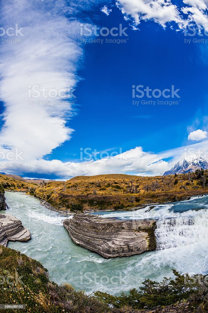 Chile, Patagonia, Paine Cascades stock photo