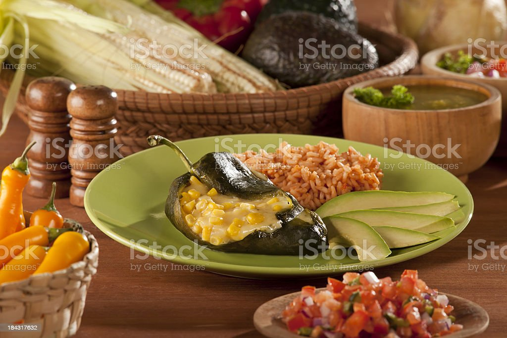 Chile Relleno royalty-free stock photo