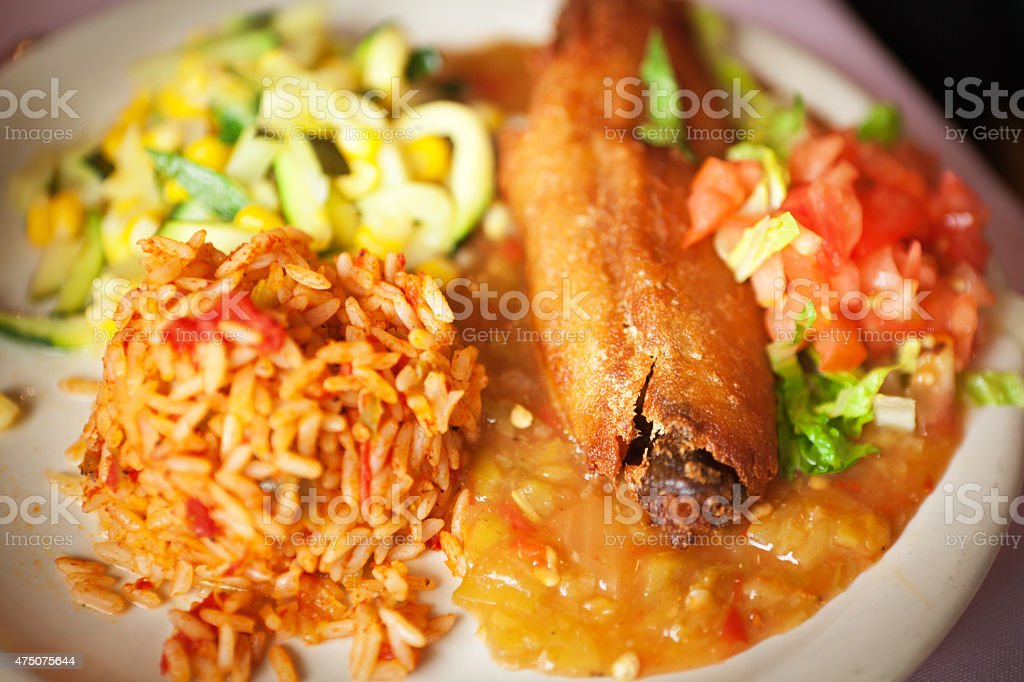 Chile Relleno Stuffed Pepper, Mexican, Southern, Southwest United States Food stock photo