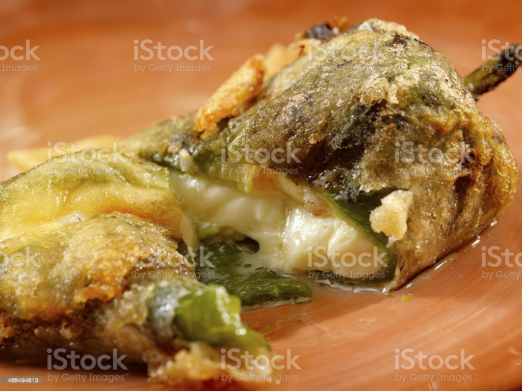 Chile relleno - Stuffed poblano pepper stock photo