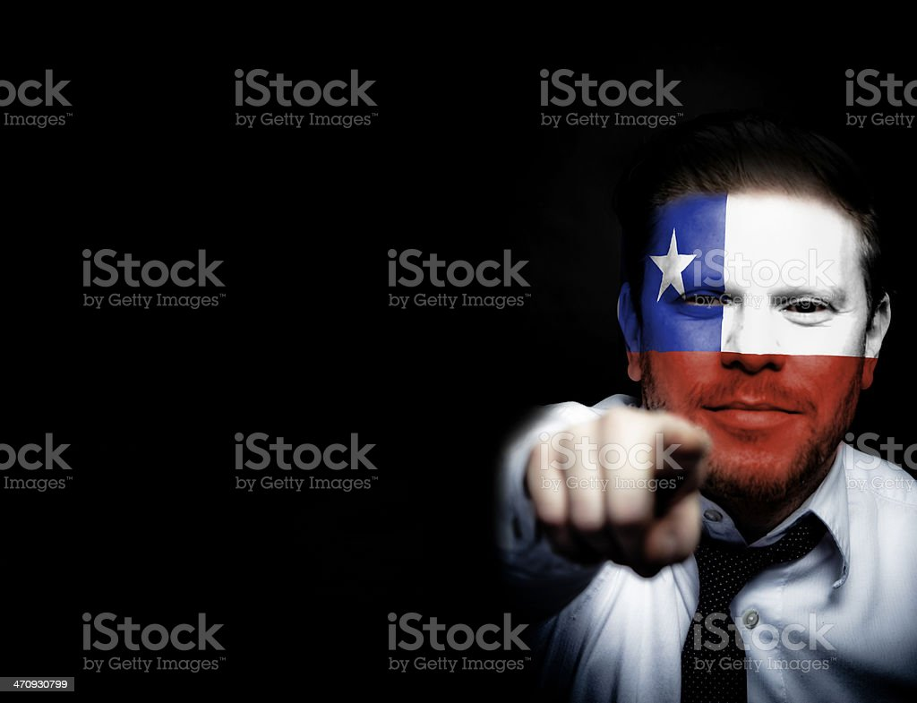 Chile Soccer Fan royalty-free stock photo