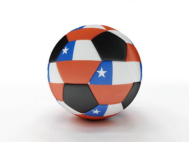 Chile soccer football ball stock photo