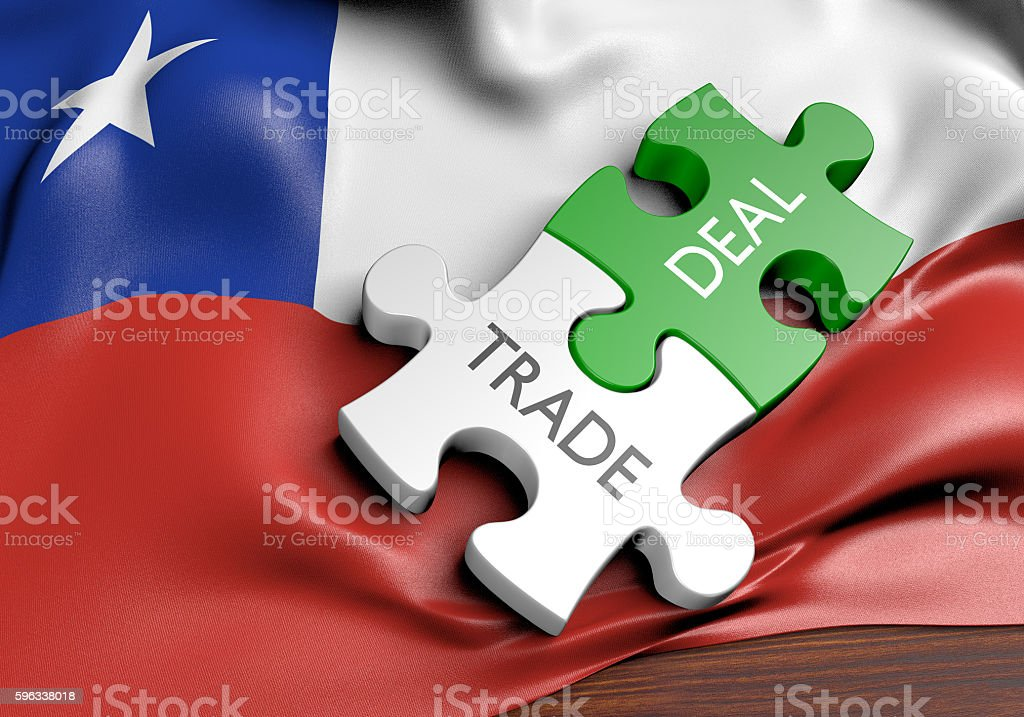 Chile trade deals and international commerce concept, 3D rendering royalty-free stock photo