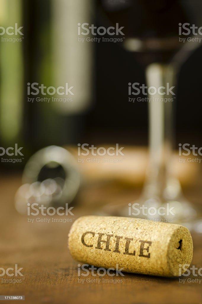 Chile Wine Cork - Vertical stock photo