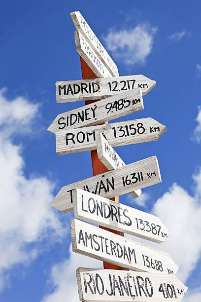 cile # 17 xxxl - cartello stradale italia km foto e immagini stock
