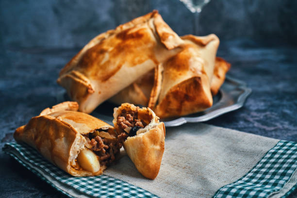 Chilean Empanadas With Meat stock photo