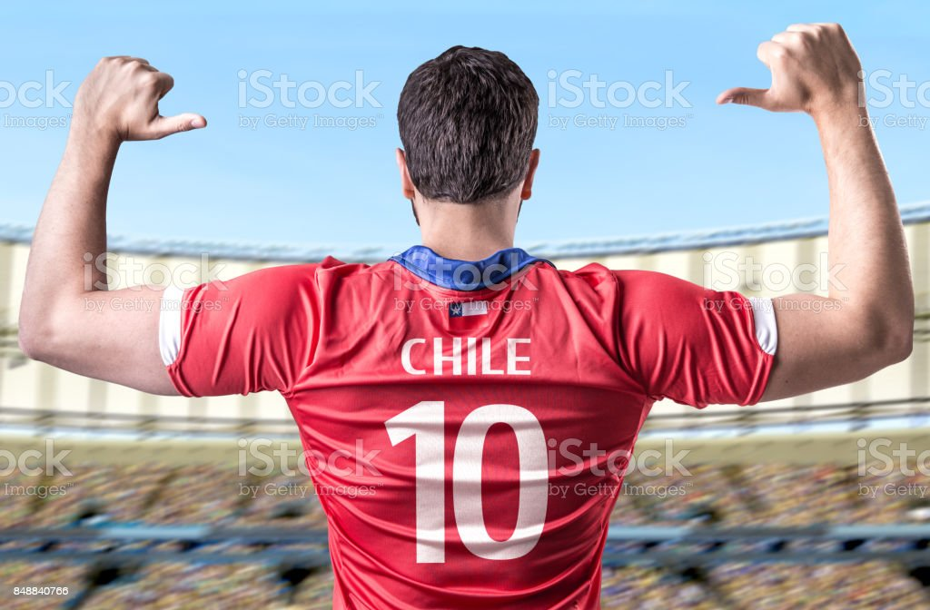 Chilean fan / player stock photo