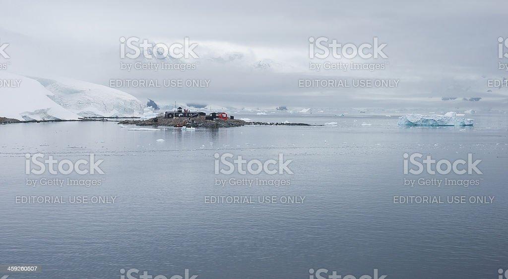 Chilean González Videla Base in Paradise Bay, Antarctica royalty-free stock photo