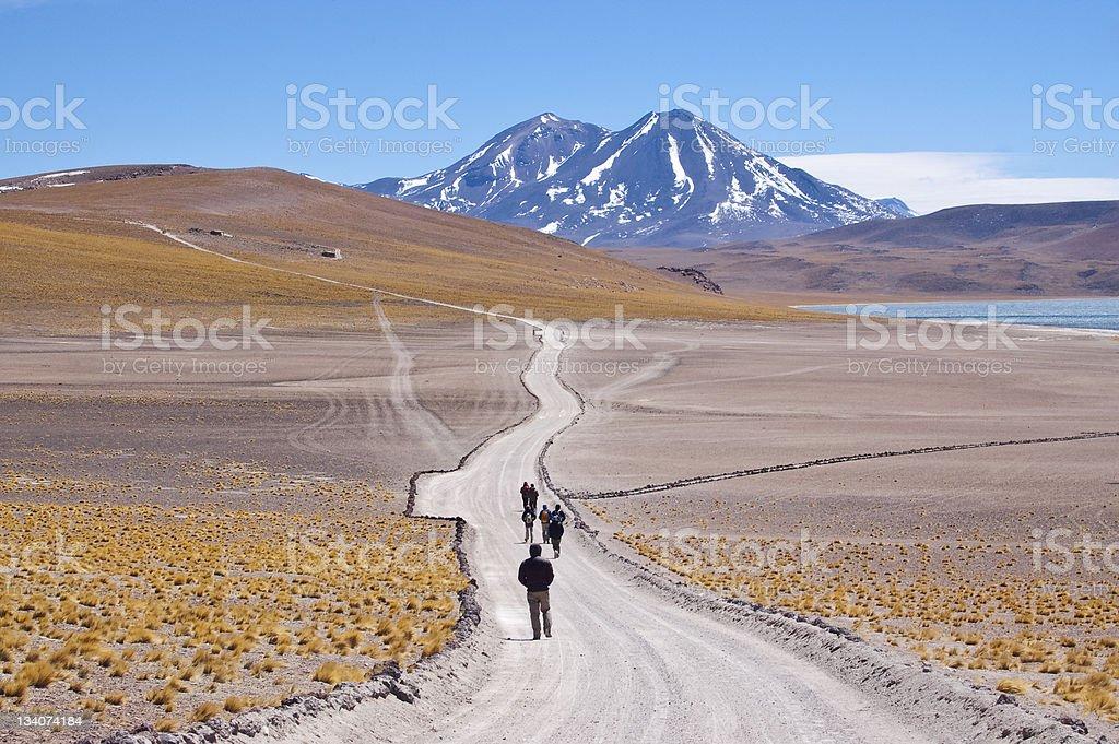 Chilean high plateau stock photo
