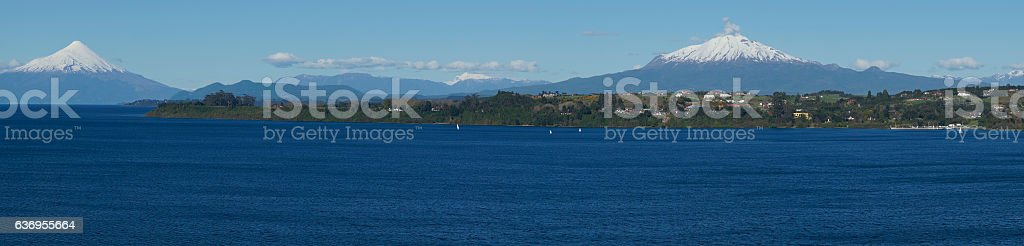 Chilean Lake District stock photo