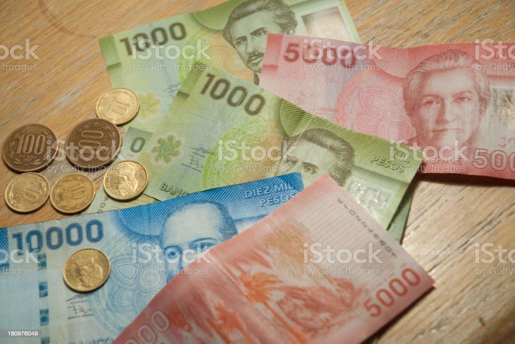 Chilean Money stock photo