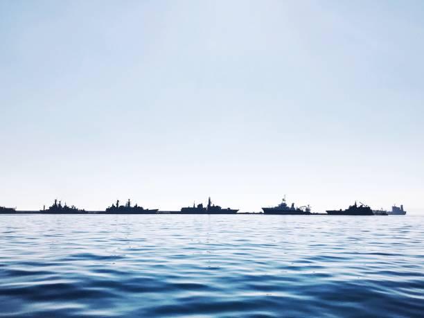 marinha chilena no porto - fragata - fotografias e filmes do acervo