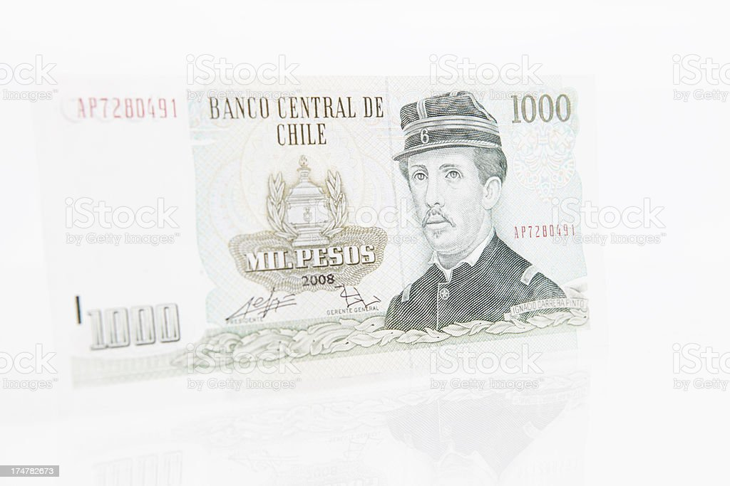 Chilean One Thousand Peso Note royalty-free stock photo