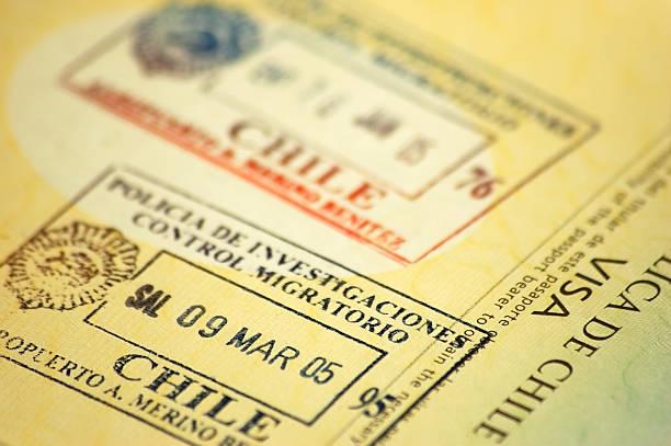 Chilenische Passport Stempel – Foto