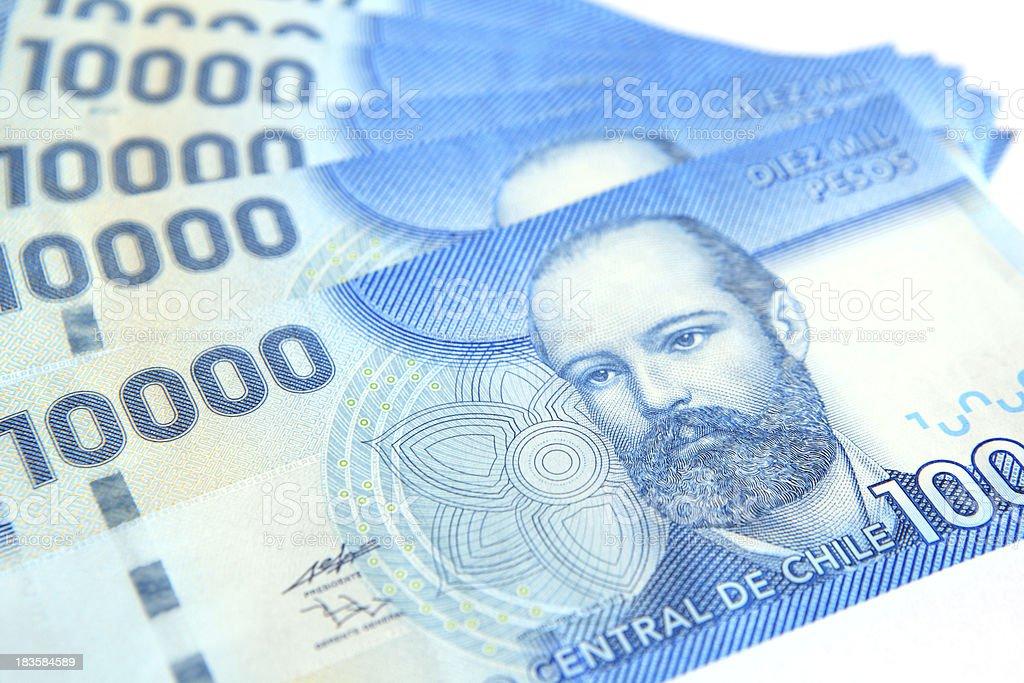 Chilean Peso Bills stock photo