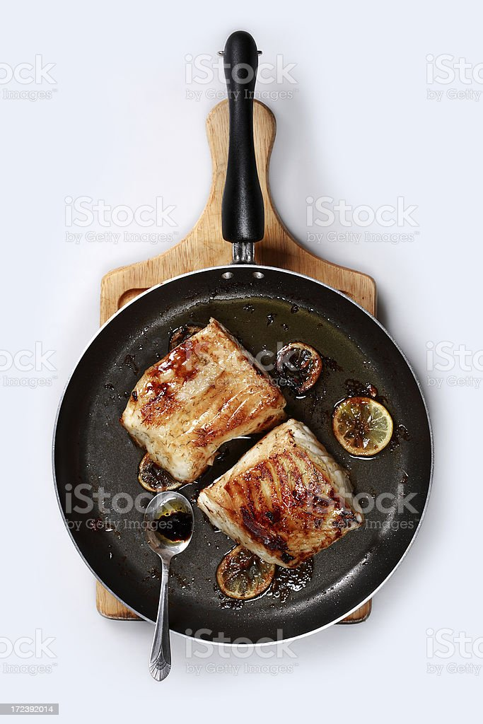 Chilean sea bass stock photo