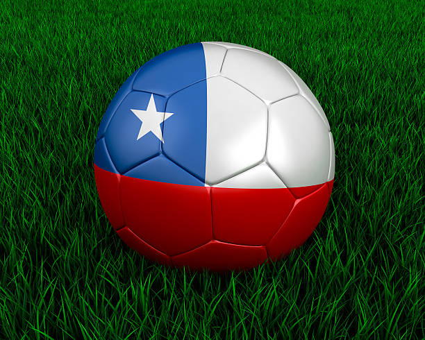 Chilean soccer ball stock photo