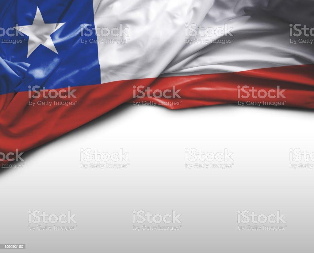Bandeira de ondulação chilena - foto de acervo