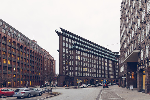 Chilehaus building in Hamburg, Germany.