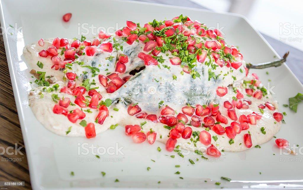 Chiles en Nogada Lunch stock photo