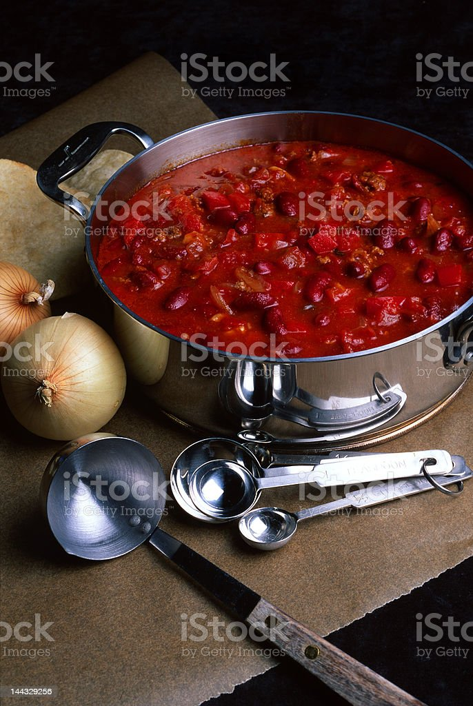 Chili and Onions stock photo