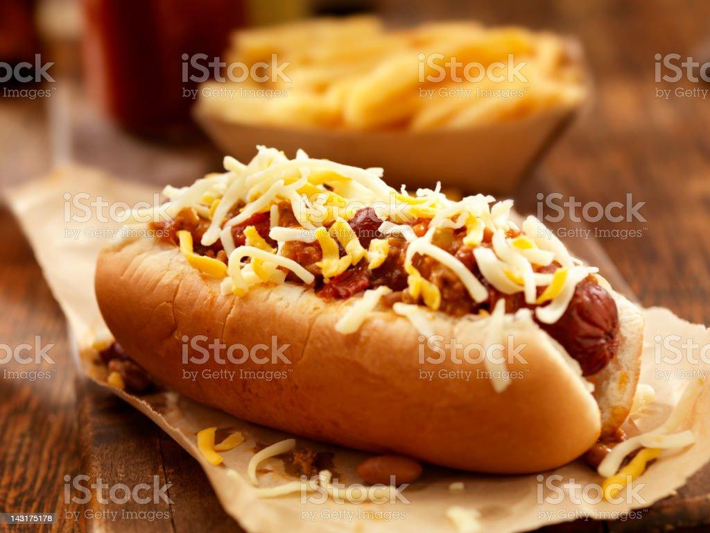 Chili-Cheese-Hotdog – Foto