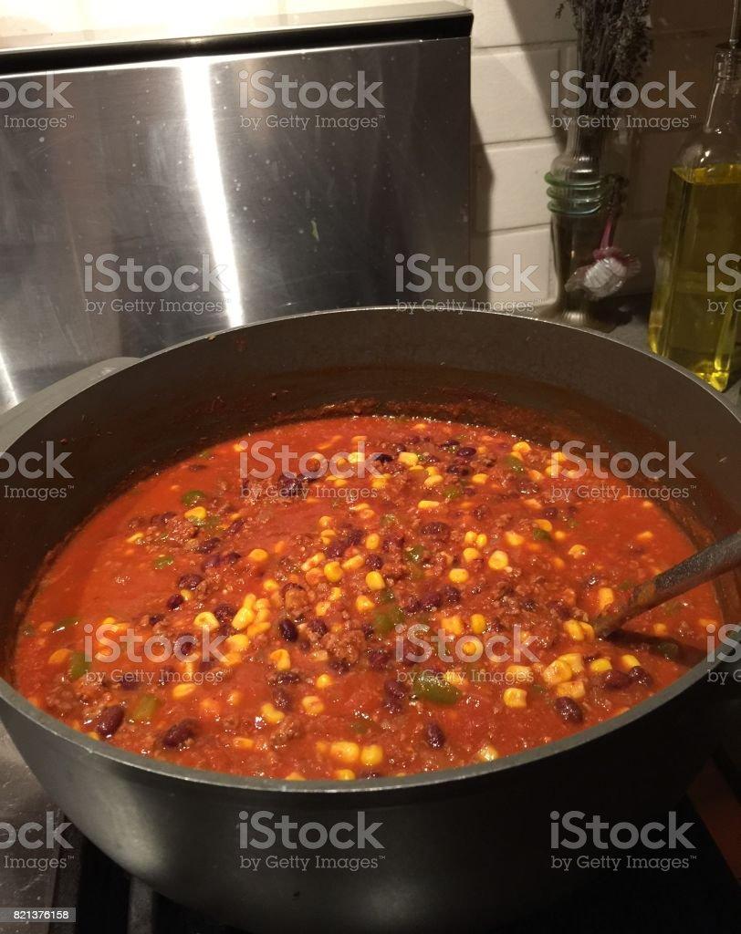 Chili/ Chilli from Garden Fresh Tomatoes stock photo